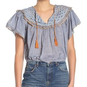 NWT. Free People Allora Allora Blouse